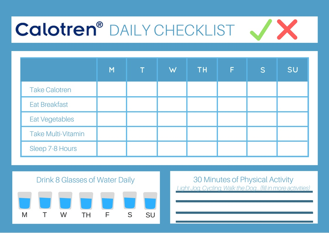 Calotren-Healthy-Weight-Loss-Daily-Checklist