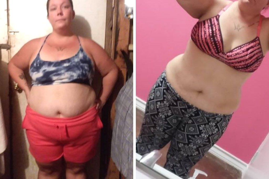 Heather-before-and-after-3-months-of-calotren-healthy-weight-loss